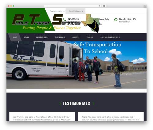 TM Transport WordPress website template - publictransitservices.org