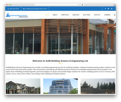 Veda theme WordPress - aumbuildingscience.com