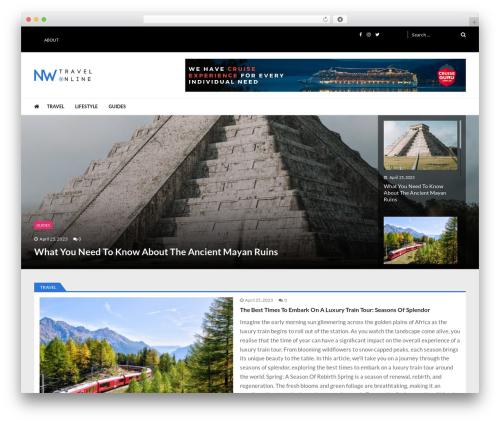 VMagazine Lite best WordPress magazine theme - nwtravelonline.com