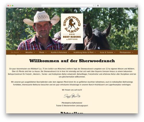 Equestrian premium WordPress theme - sherwoodranch.de