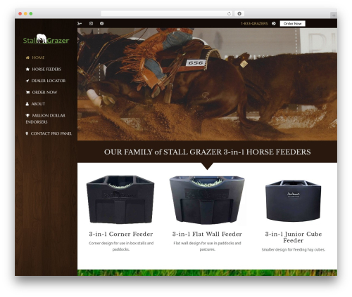 HorseClub best WordPress template - propanel.com