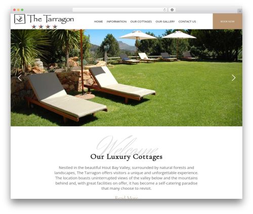 Hotel LUX best hotel WordPress theme - thetarragon.com