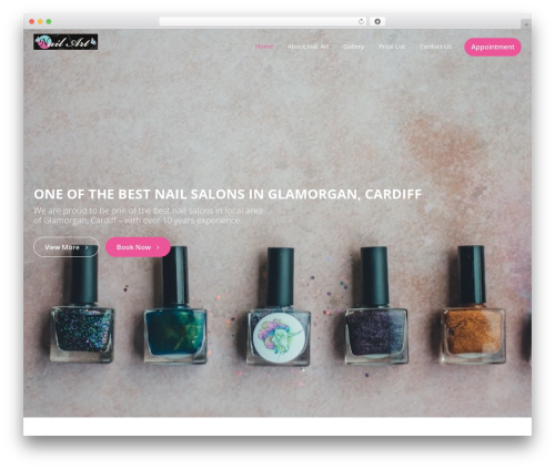 Beauty Studio WordPress website template - nailart-uk.com
