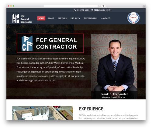 Best WordPress template The7 - fcfgc.com