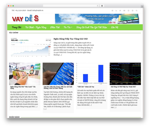 Empowerer template WordPress - vayde.vn