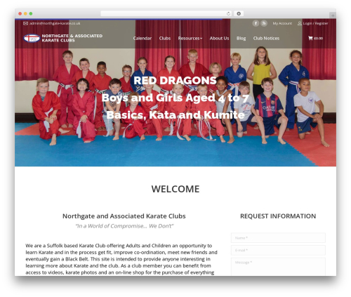 WordPress website template The7 - northgate-karate.co.uk