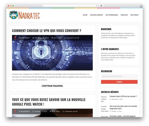 LiveBlog free WordPress theme - nadratec.com