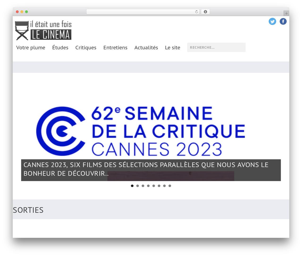 Extra WordPress theme - iletaitunefoislecinema.com