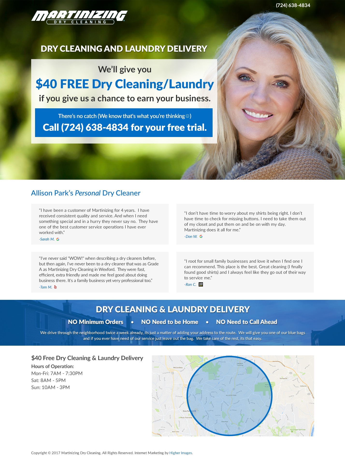 Martinizing Dry Cleaning WordPress website template