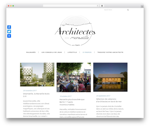 Stockholm theme WordPress - architectes-marseille.info