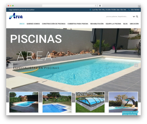 SwimmingPool WordPress theme - piscinasarea.com