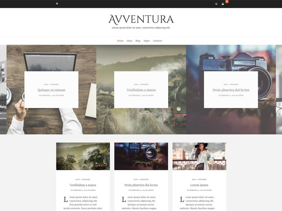 Avventura Lite WordPress template for photographers