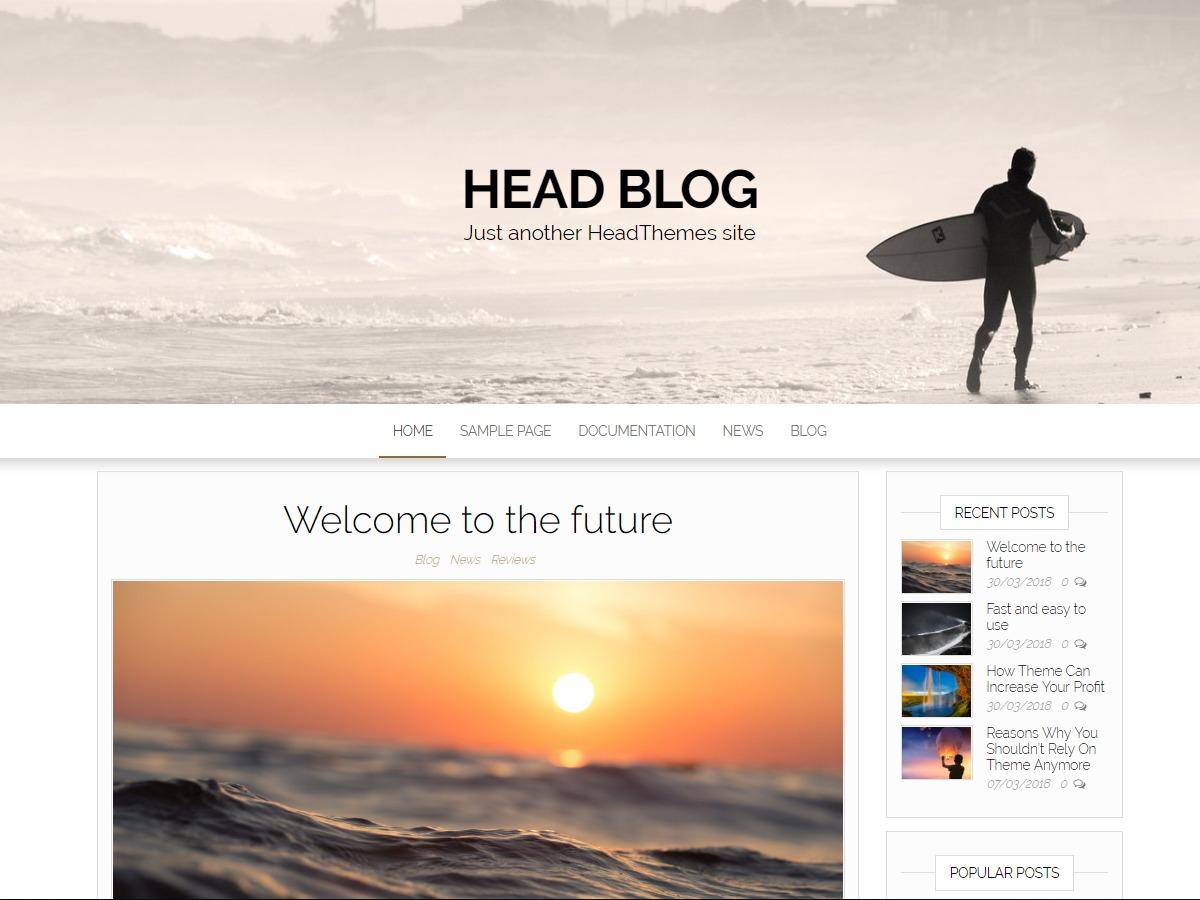 Head Blog Banda Sol WordPress blog template