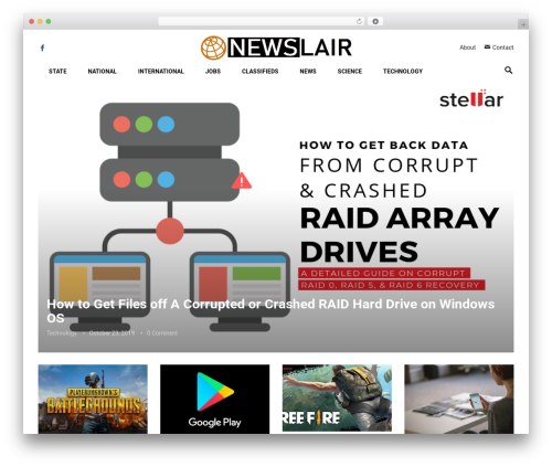 Revolution WordPress news theme - newslair.com