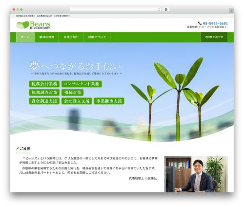 WordPress theme LIQUID CORPORATE - beans-tax.com