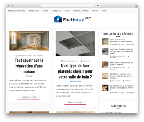 Blog Circle best WordPress template - facthouz.com