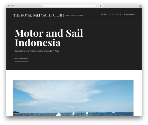 Primer free WordPress theme - royalbaliyachtclub.com