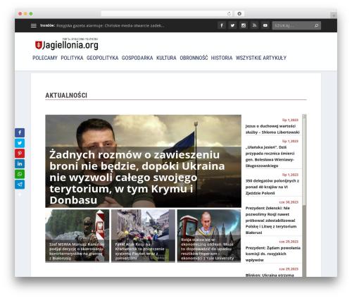 Template WordPress Extra - jagiellonia.org