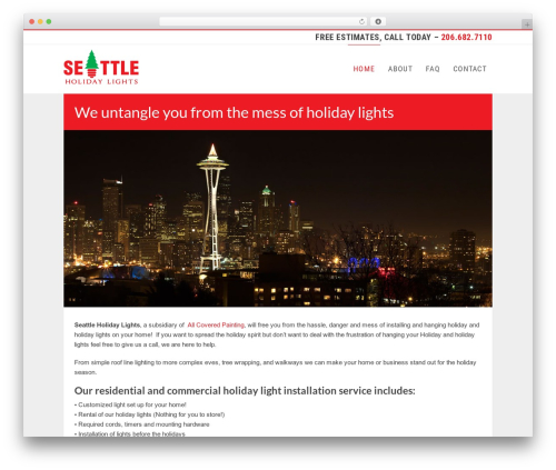 WordPress theme Businessweb Plus - seattleholidaylights.com
