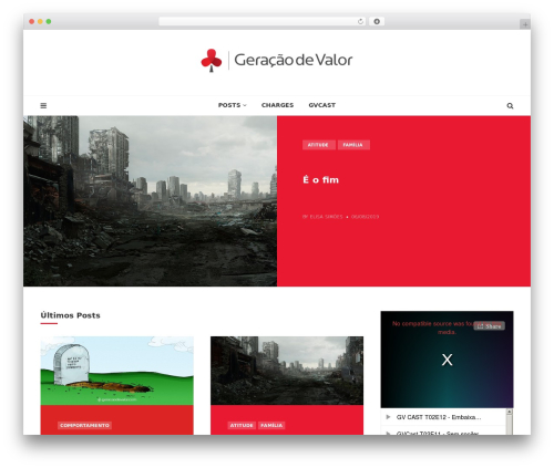 Cannix WordPress blog theme - geracaodevalor.com
