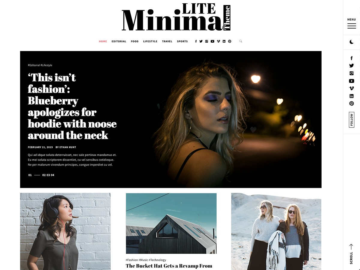Minimal Lite best WordPress gallery