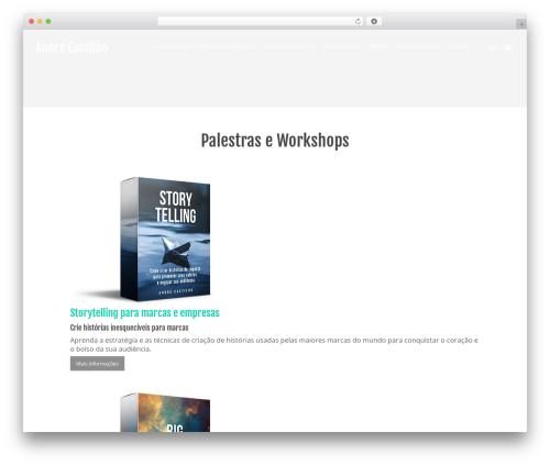 Salient theme WordPress - andrecastilho.com