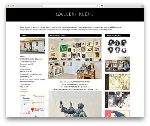 Stockholm top WordPress theme - galleriklejn.dk