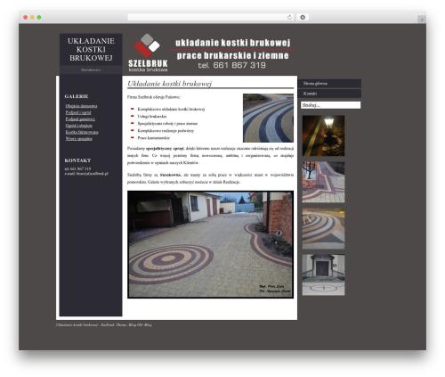 Best WordPress template Impress - szelbruk.pl