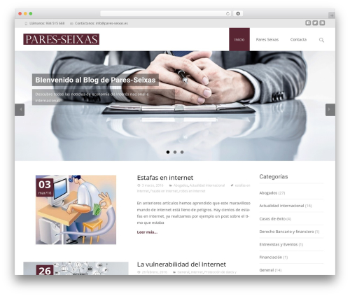 i-max WordPress theme - pares-seixas.es