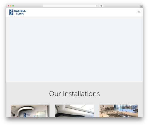 Impreza WordPress theme - gaxiolaclinic.com