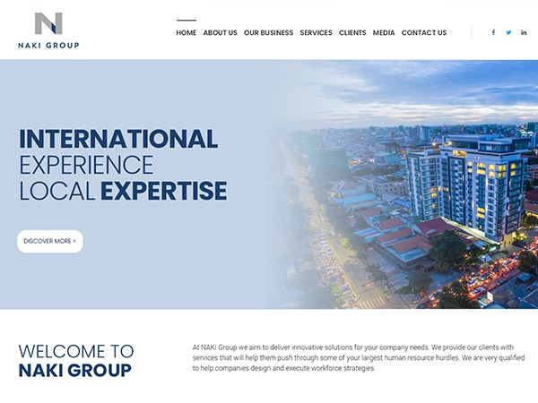 Naki business WordPress theme
