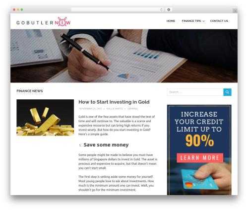 Poseidon theme WordPress free - gobutlernow.com