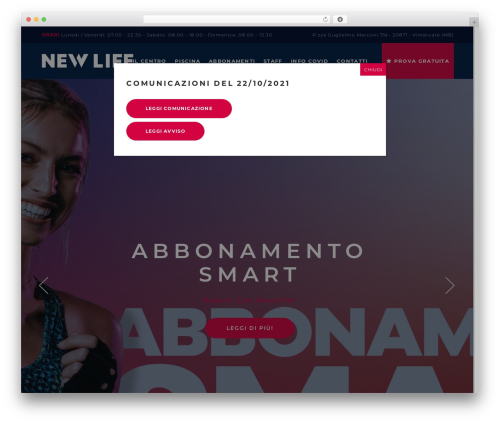 TopFit fitness WordPress theme - newlifefitness.it