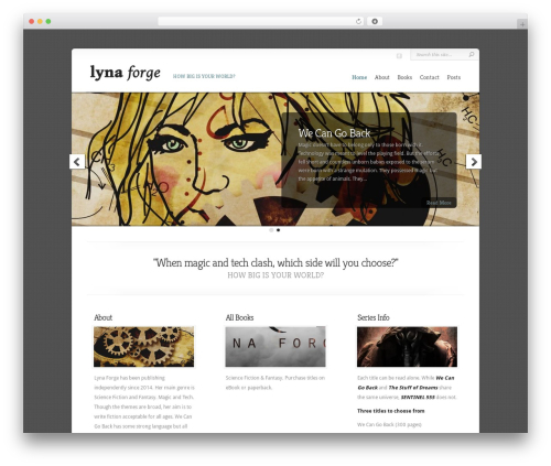 WordPress theme Chameleon - lynaforge.com