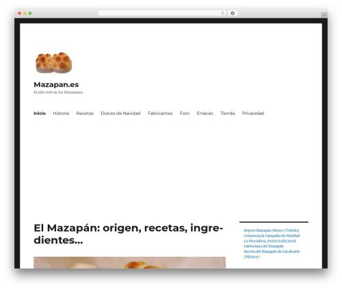 Twenty Sixteen best free WordPress theme - mazapan.es