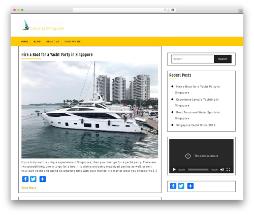 Best WordPress template Ecommerce Solution - cirrus-yachting.com