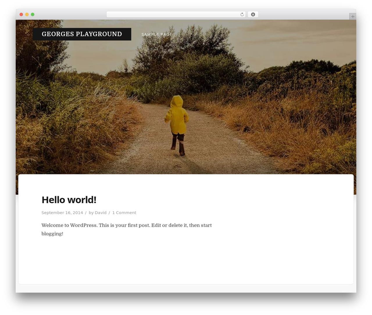 Best WordPress template Typit - georgesplayground.com