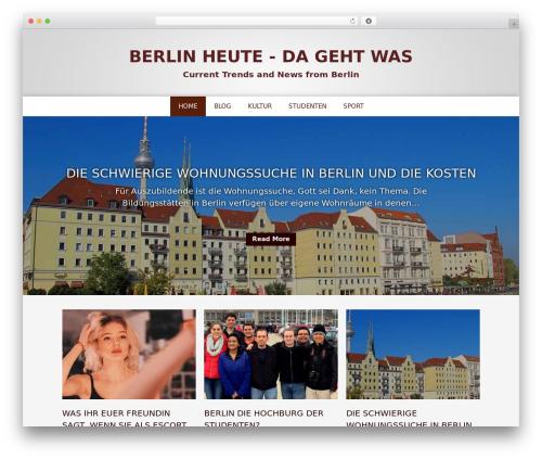 Layers WordPress news template - berlintoday.de