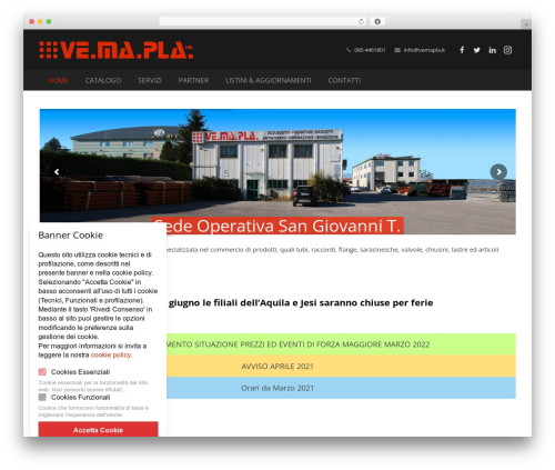 WordPress website template Impreza - vemapla.it