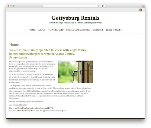 ZenLife best WordPress theme - gettysburgrentals.net