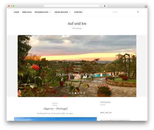 Activello WordPress theme - aufundlos.com