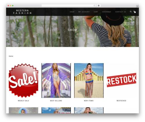 ShopIsle PRO WordPress ecommerce template - westernfashioninc.com