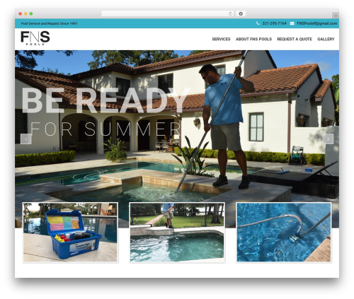 SwimmingPool business WordPress theme - fnspools.com