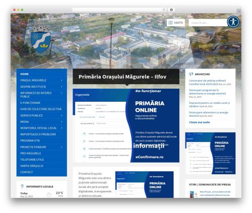 TownPress WordPress theme design - primariamagurele.ro