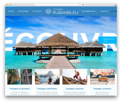 WordPress theme Theme BMS - voyages-rubanbleu.com