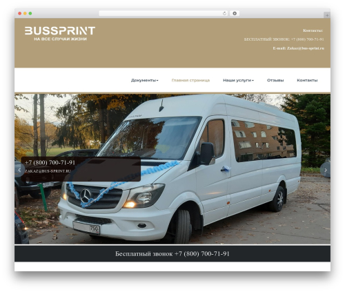 BusiProf Pro WordPress website template - bus-sprint.ru