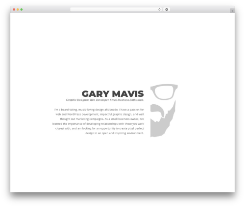 Protheme WP template - garymavis.com
