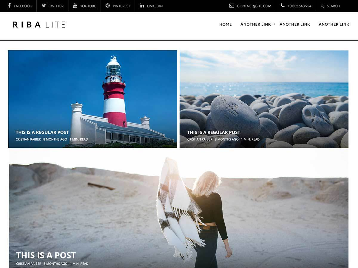 Riba Lite Customs WordPress gallery theme