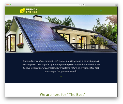 WordPress template Betheme - germanenergy.com.au