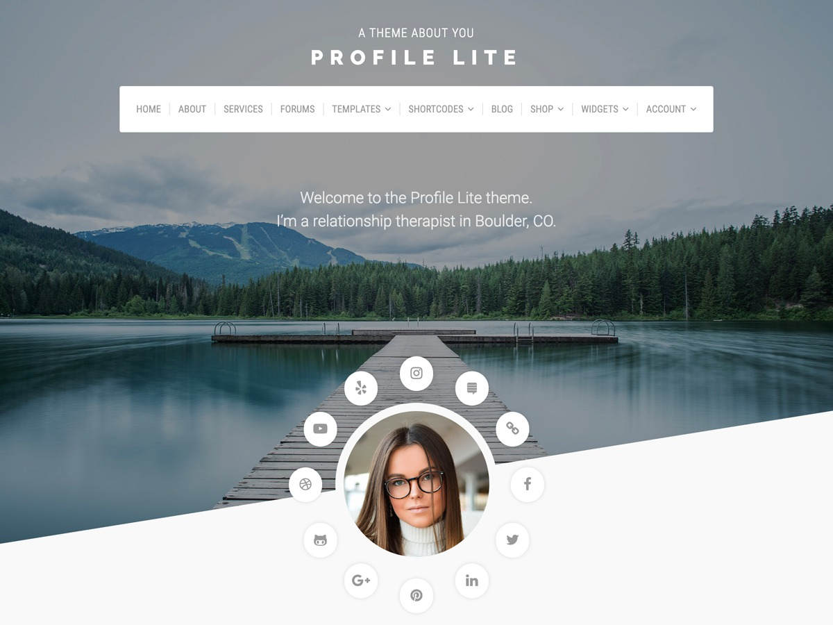 Best WordPress template Profile Lite